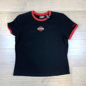 Harley Davidson Logo Contrast Short Sleeve T-Shirt